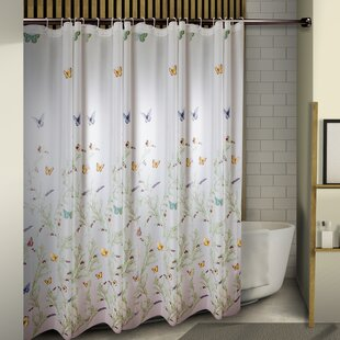Obi Floating Butterflies Single Shower Curtain