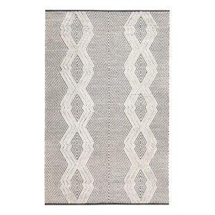 Best Tufted Tribal Hand-Woven Black/White Area Rug By Gracie Oaks