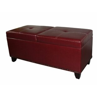 Red Barrel Studio Mclaughlin Faux Leather Storage Bench
