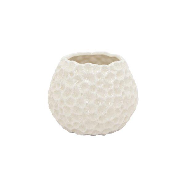 Highland Dunes Modern Hammered Ceramic Table Vase Wayfair