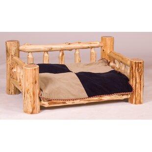 Dog bedroom furniture Tiny Dog Traditional Cedar Log Dog Bed With Standard Mattress Pinterest Large 51 100 Lbs Sofa Dog Beds Youll Love Wayfair