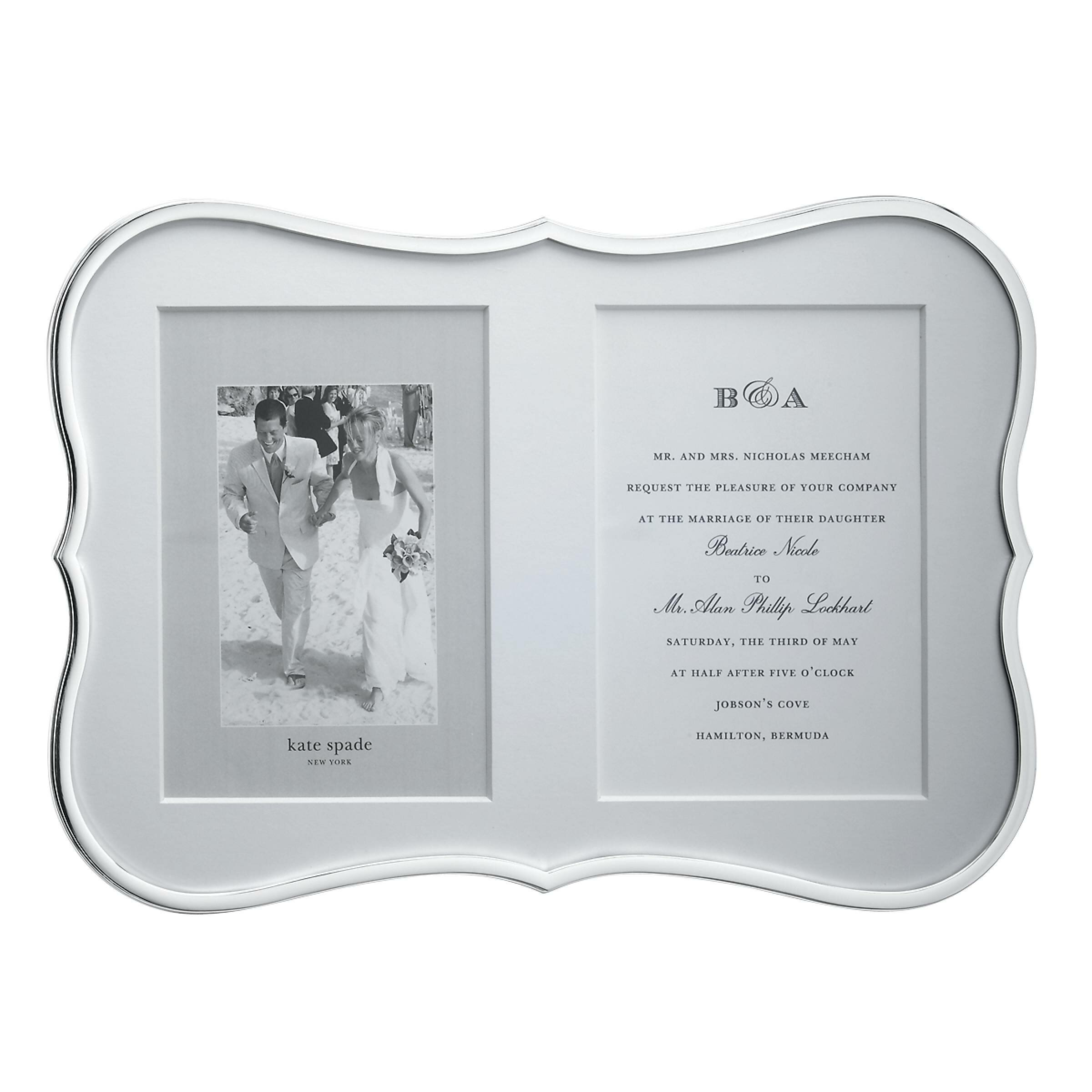 kate spade new york Crown Point Double Invitation Picture Frame ...