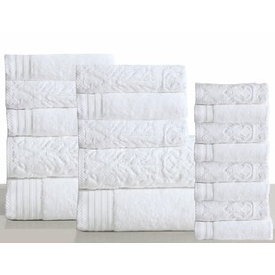 Harley 18 Piece 100% Cotton Bath Towel Set (Set of 18)