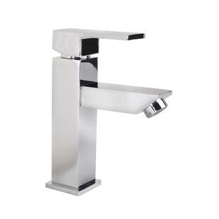 Flairwood Decor Grace Square Modern Monobloc Single Hole Bathroom Faucet Image