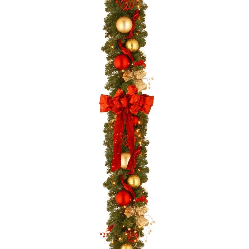 national tree co decorative pre lit cozy christmas garland