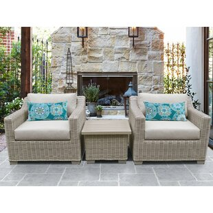 Coast 3 Piece Conversation Set with Cushions by TK Classics