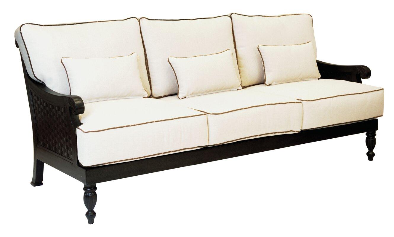 Leona Jakarta Patio Sofa With Cushions Reviews Perigold ~ Patio Sofa And Loveseat