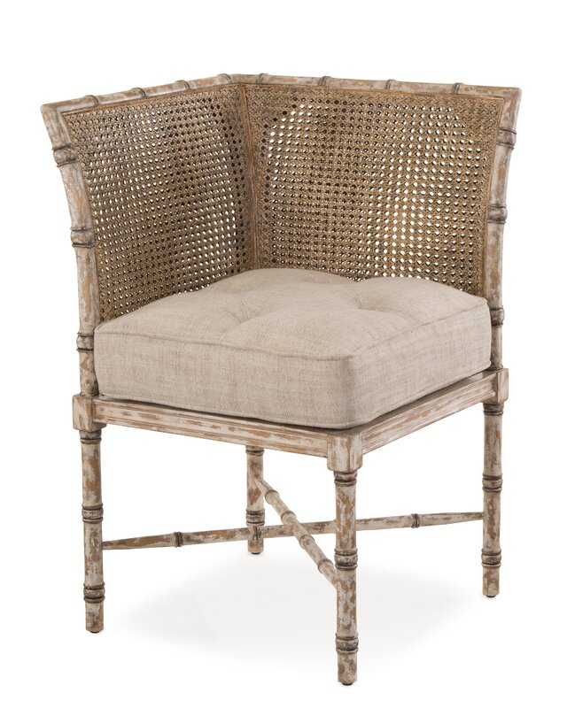 French Linen and Cane Side Chair #Frenchlinen #cane #Frenchchair