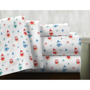 Owl 100% Cotton Flannel Sheet Set