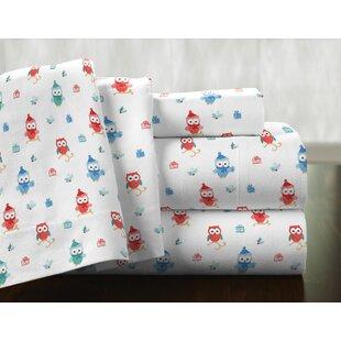 Owl 100% Cotton Flannel Sheet Set By Pointehaven