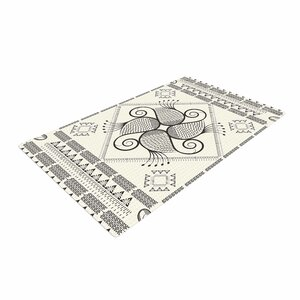 Famenxt Paisley Into The Dream Pattern Beige Area Rug