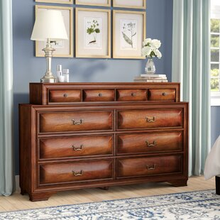 Edwardsville 10 Drawer Double Dresser with Mirror