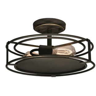 Peter 2-Light Semi Flush Mount by Springdale Lighting