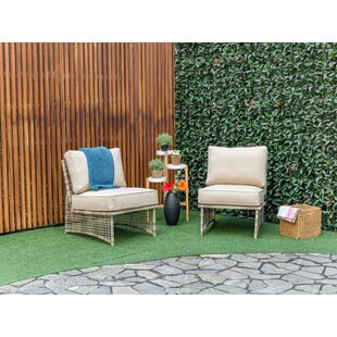 Kayleigh Outdoor Patio Chair With Cushions (Set Of 2) by Bay Isle Home Coupon