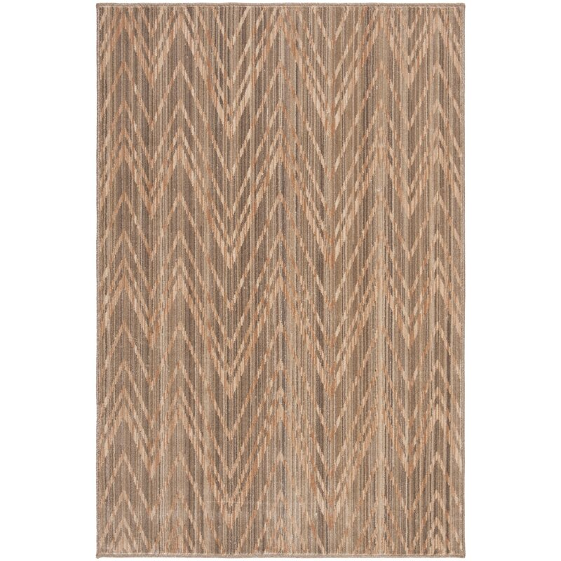 Fleur De Lis Living Sarabia Chevron Brown Beige Area Rug Wayfair