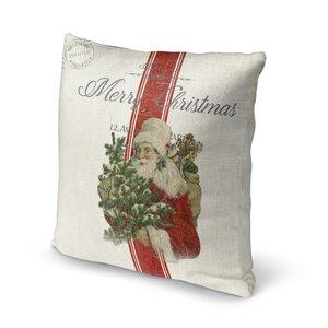 Santa Outdoor Throw Pillow
