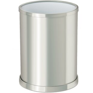 AGM Home Store Round Top Brass Open Waste Basket