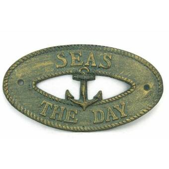 Handcrafted Nautical Decor Seas The Day