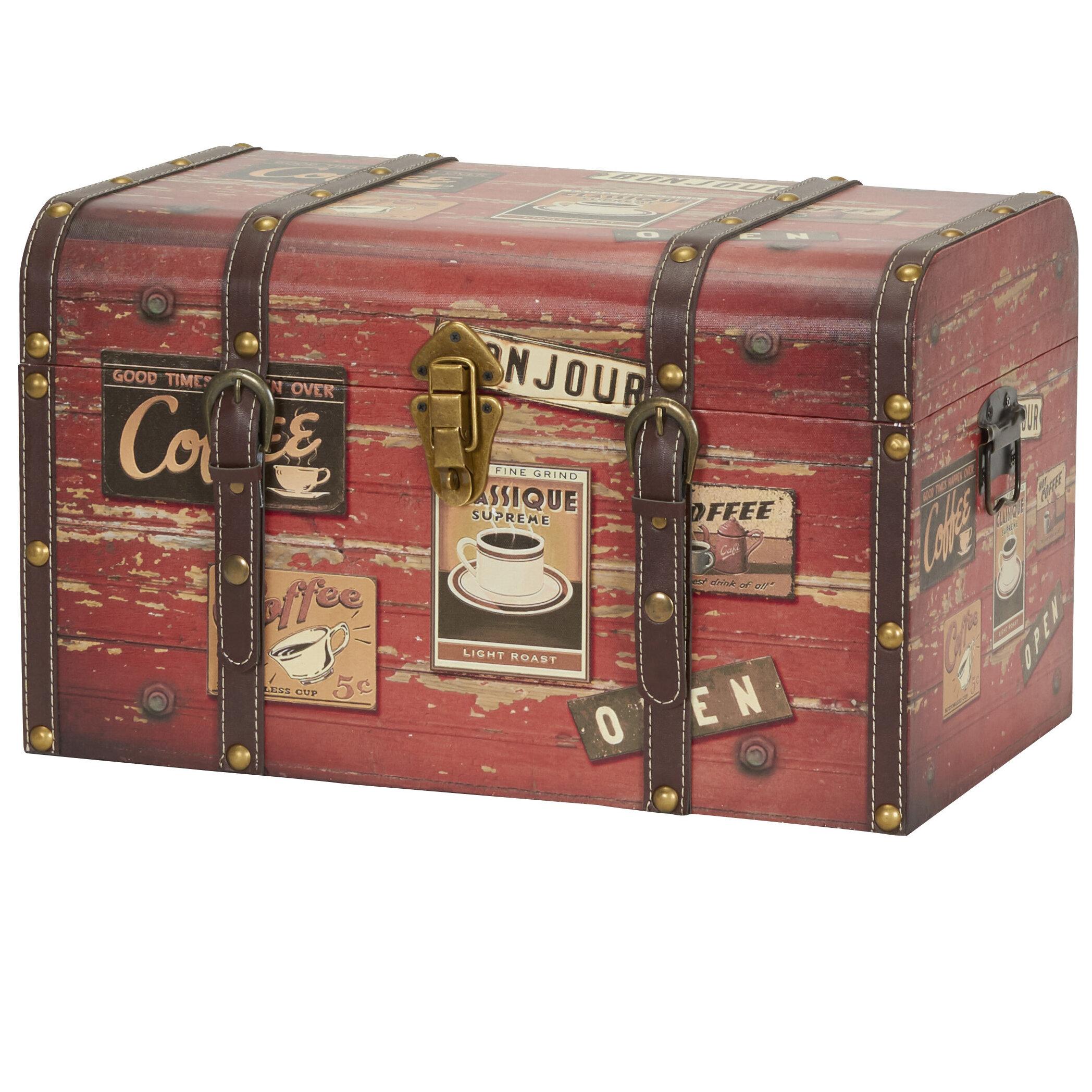 Picture of: Winston Porter Aileen Medium Decorative Home Storage Trunk Reviews Wayfair