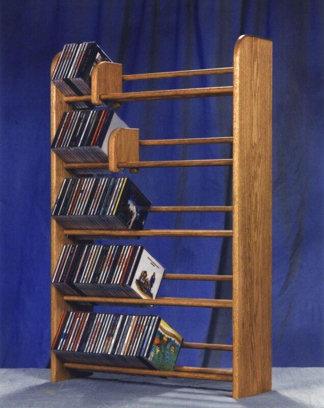 wooden cd storage rack