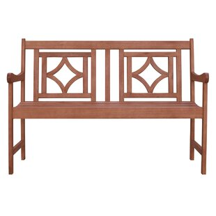 Stephenie Patio Diamond Wooden Garden Bench