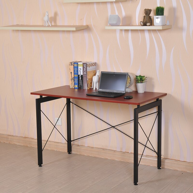 home shelf computer w keyboard wooden office homcom pc table drawers writing workstation furniture product shelves black wood desk desktop