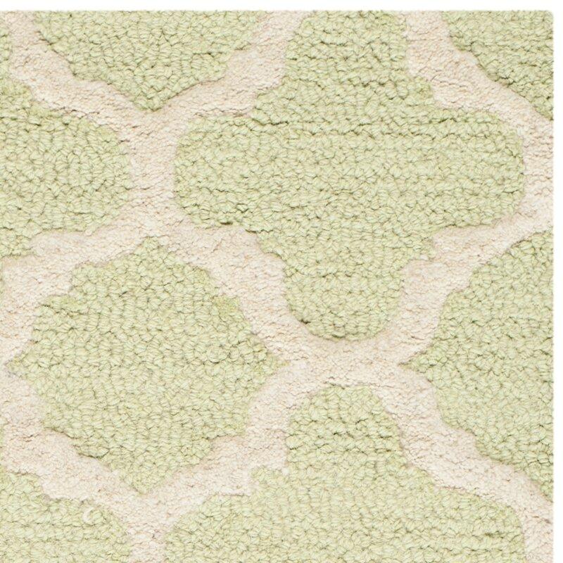 safavieh handgefertigter teppich cambridge aus wolle in hellgr n elfenbein bewertungen. Black Bedroom Furniture Sets. Home Design Ideas
