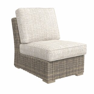 Buff Patio Chair With Cushions by Greyleigh Great price