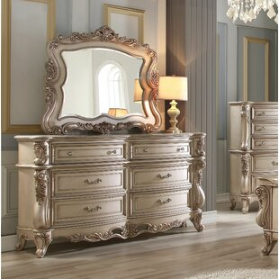 Grajeda 6 Drawer Double Dresser With Mirror