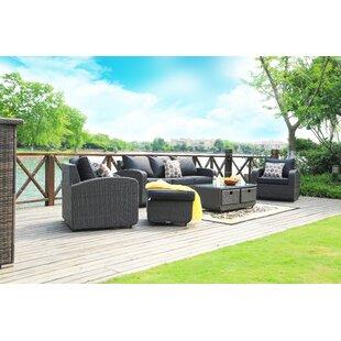 6 Seater Rattan Sofa Set Image