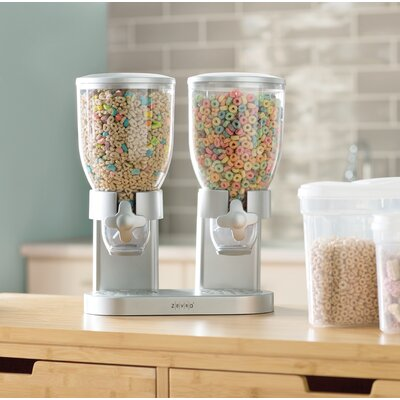 Zevro Double Cereal Dispenser Colour: Silver
