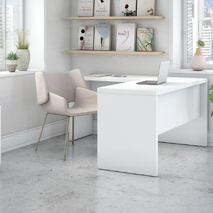 Echo 3 Piece Reversible L-Shape Desk with Mobile File Cabinet by Kathy Ireland Office by Bush