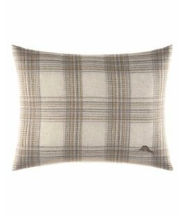 Raffia Palms Plaid Woven Lumbar Pillow by Tommy Bahama Bedding