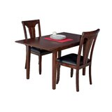 Assante 3 Piece Solid Wood Dining Set with Butterfly Leaf Table by Alcott Hill®