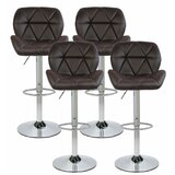 Eberlein Adjustable Height Swivel Bar Stool (Set of 4) by Orren Ellis