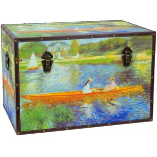 Faux Leather Renoir The Seine Trunk by Oriental Furniture