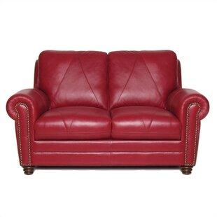 Red Barrel Studio Barnstormer Leather Loveseat