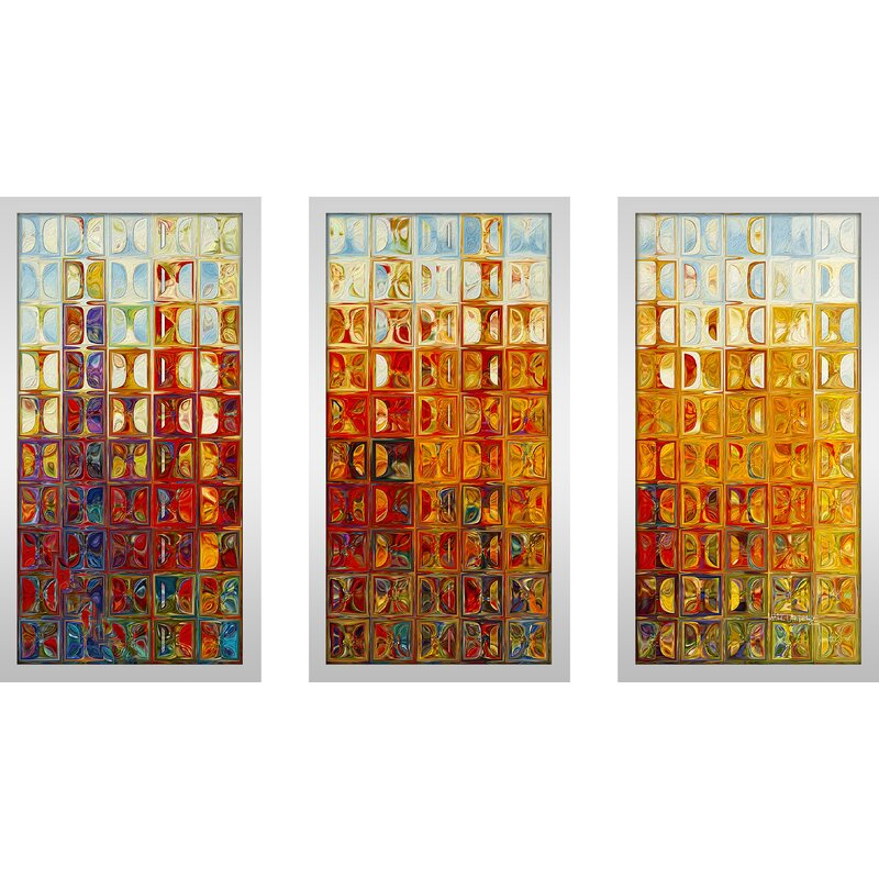Pictureperfectinternational Tile Art 1 2015 Max By Mark Lawrence 3 Piece Framed Graphic Art Set Wayfair