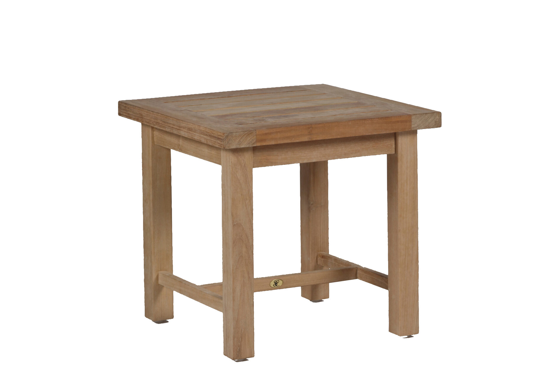 Outdoor Teak Side Table.Club Solid Wood Side Table