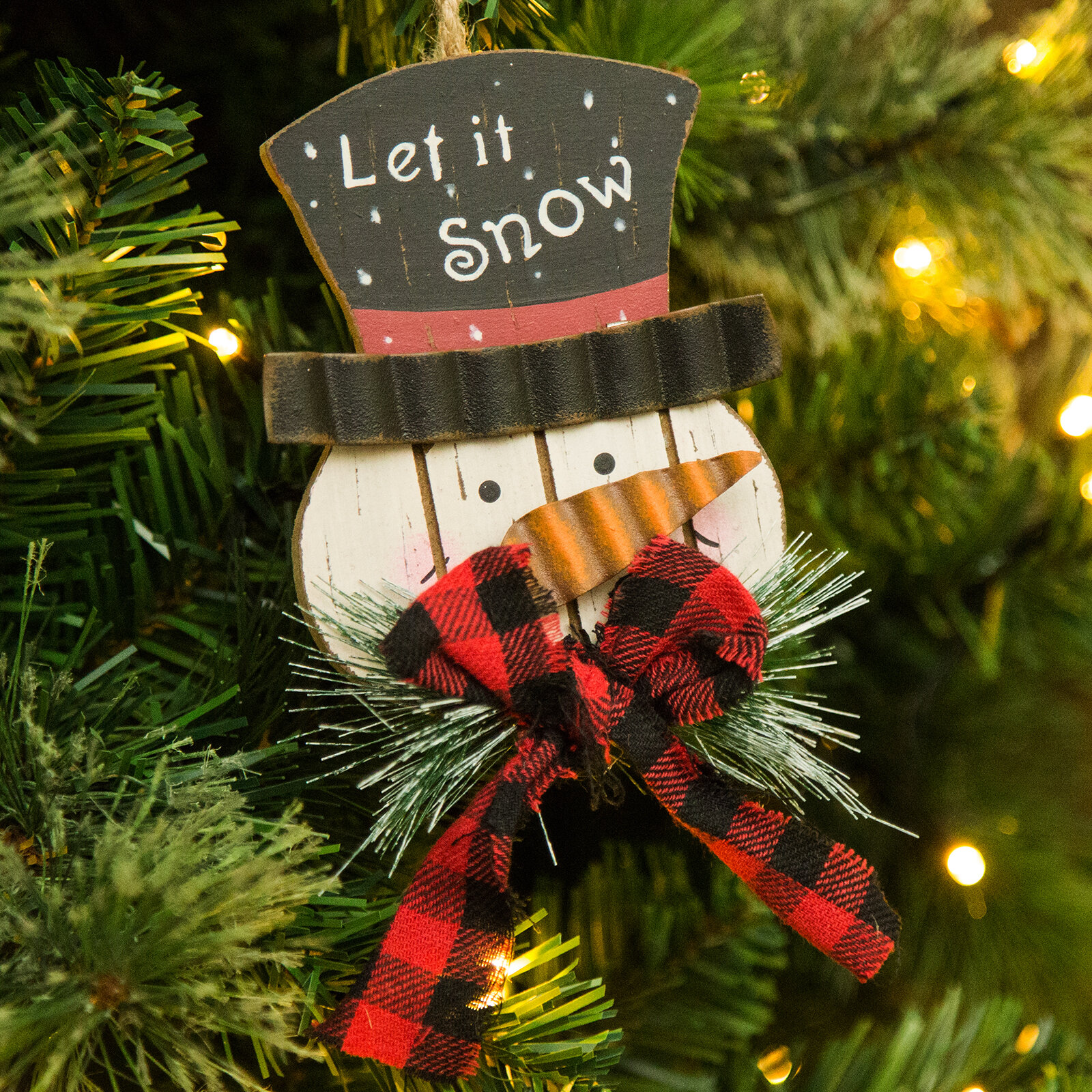 The Holiday Aisle Wooden Snowman Holiday Shaped Ornament Reviews Wayfair