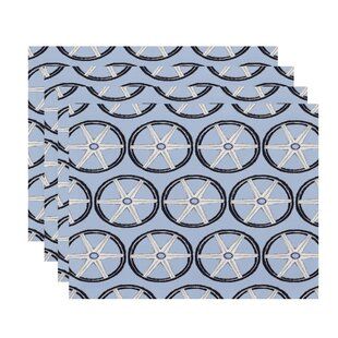 Harriet Nautical 18 Placemat (Set of 4) by Breakwater Bay