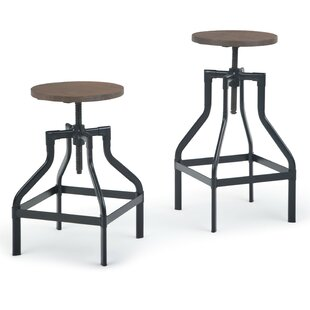 Kessler Adjustable Height Swivel Bar Stool by Williston Forge