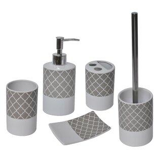 Evideco Escal 5-Piece Bathroom Accessory Set