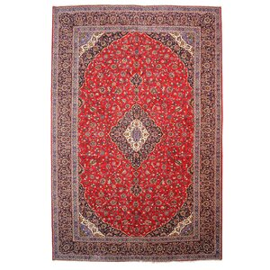 Hand-Knotted Red Area Rug
