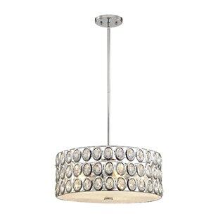 Willa Arlo Interiors Blucher Crystal 5-Light Drum Pendant