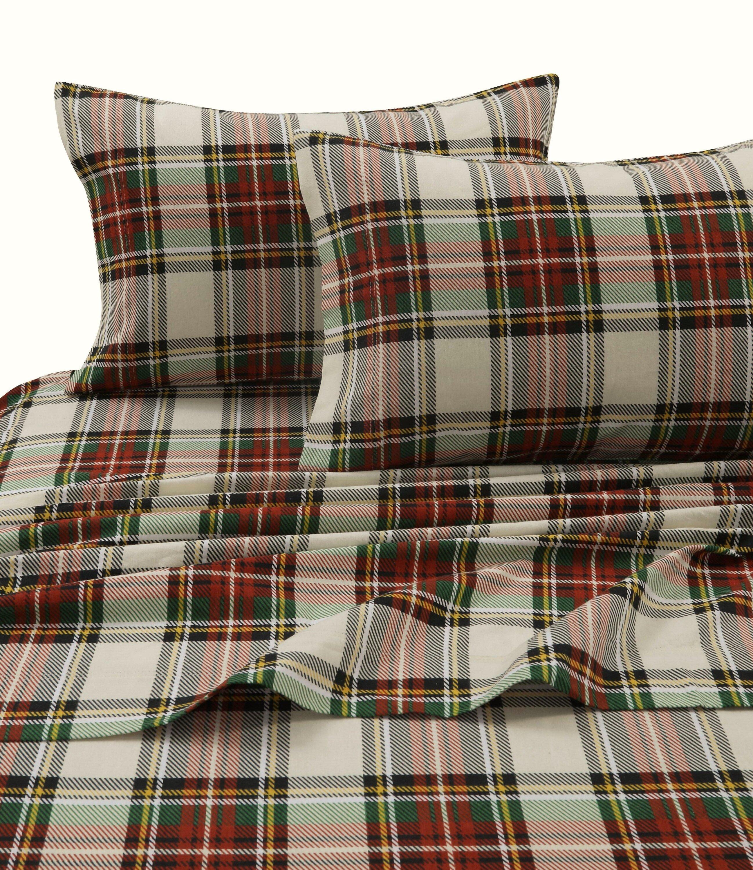Laurel Foundry Modern Farmhouse Tioga Charleston Plaid 170 Gsm Printed Flannel Extra Deep Pocket 100 Cotton Sheet Set Reviews