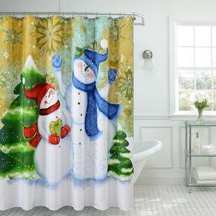 Christmas Greetings Sweetie Single Shower Curtain