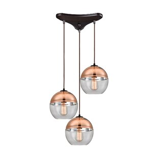 Toothaker 3-Light Pendant by Brayden Studio