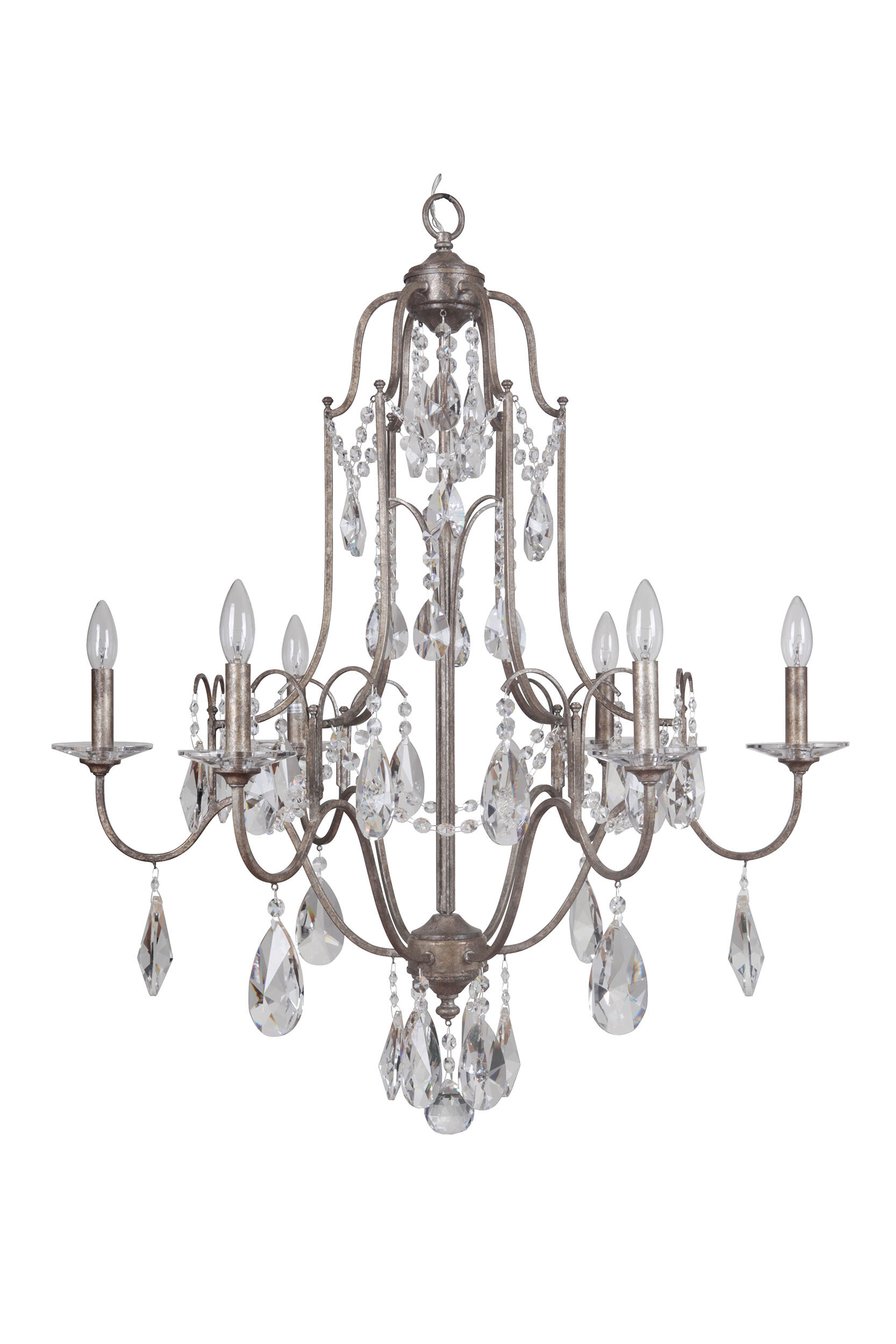 Marianahome 6 Light Candle Style Classic Traditional Chandelier With Crystal Accents Accents Wayfair