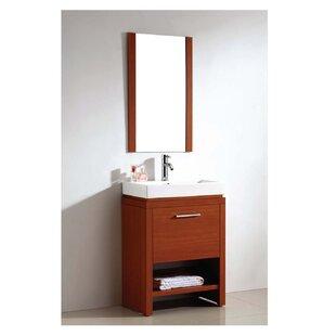 Read Reviews Melamine Sided Bathroom/Vanity Mirror ByDawn USA